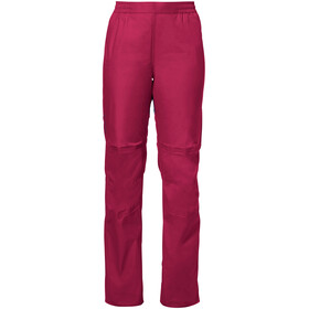 VAUDE Drop II Pants Women crimson red